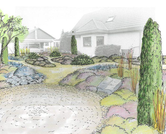 Planung eines Heidegartens