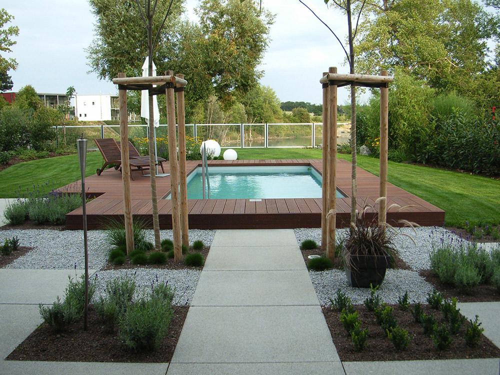 Private Gärten Garten mit Pool