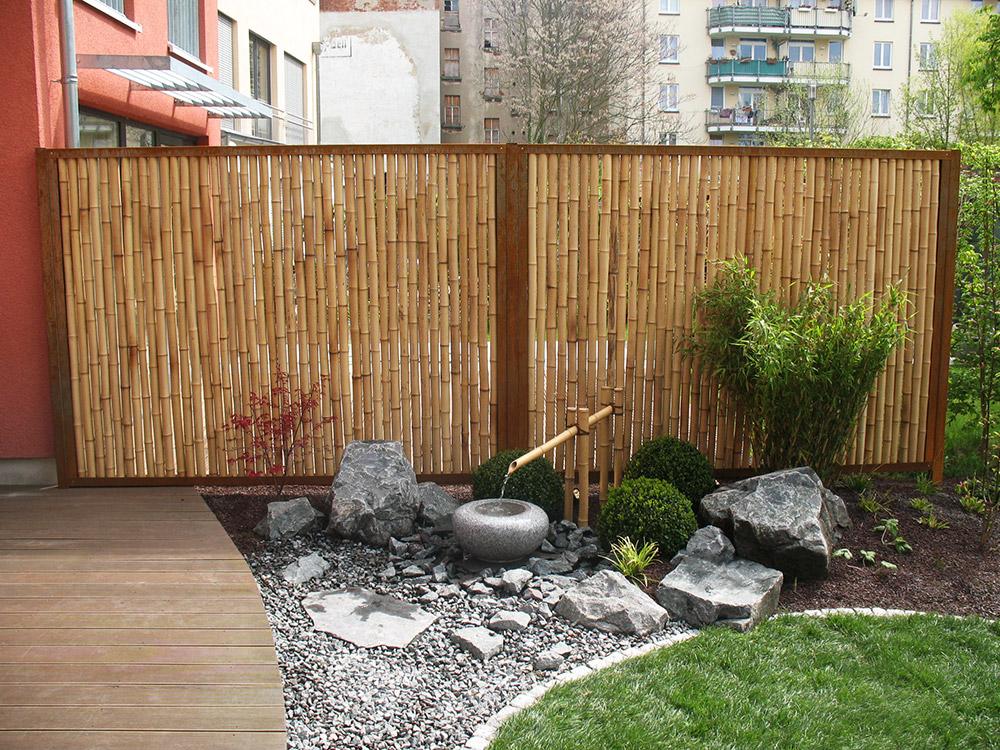 Bambuszaunelement