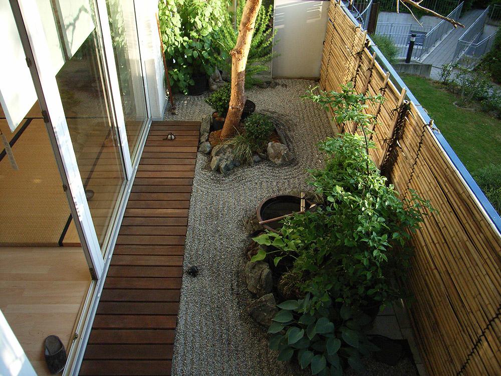 balkon im japanischem stil garten u landschaftsbau With französischer balkon mit eule garten